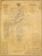 1986 Veszprém Megye 1841-es Térképének Reprintje, 108x81 Cm - Mapas