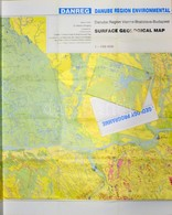1998 Duna Régió Felszíni Geológiai Térképe, Vienna-Bratislava-Budapest, 1:10.000, Szerk.: Császár G., Bp. Magyar Állami  - Mapas