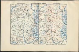 Cca 1920-1940 Vegyes Térkép Tétel, 3 Db:  Katonai Határőrvídék A XVIII. Sz. Elején/végén, Buda-Pest Környéke A XV. Sz. V - Mapas