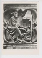 Strasbourg Cathédrale, Mois De Février, Homme à La Cheminée 1280 - Portail Sud, Façade Occidentale (cp Vierge N°70) - Strasbourg