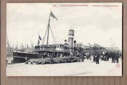 CPA 62 - BOULOGNE-sur-MER - Bateau D'excursions - TB PLAN Quai ANIMATION Embarquement - Boulogne Sur Mer