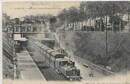 94, SAINT-MANDE, Quai De La Gare Et Avenue Gambetta ,Train En Gare, Scan Recto-Verso - Saint Mande