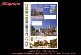 CUBA. ENTEROS POSTALES. AEROGRAMA 1999 CUMBRE IBEROAMERICANA DE JEFES DE ESTADO Y GOBIERNO - Cuba