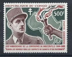 Congo PA N°38** (MNH) 1966 - Général De Gaulle - Kongo - Brazzaville