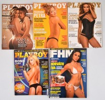 2004-2011 Playboy 4 Száma, 2004. Feb., 2007. Jan., 2009. Feb., 2011. Nov.+2004 FHM 2004 áprilisi Száma. - Documentos Antiguos