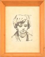 Bányai Erzsébet-képről Készült Nyomat, üvegezett Fa Keretben, 11,5×9 Cm - Documentos Antiguos