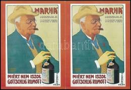 """""""Miért Nem Iszol Gottschlig Rumot?"""" 2 Db Reprint Képeslap - Documentos Antiguos"""