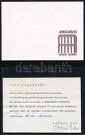 Vegyes Kisnyomtatvány Tétel: Kiállítási Meghívók, Katalógusfüzetek, Stb., Közte Aláírt Is (Balla Demeter, Tomori Ede) - Documentos Antiguos