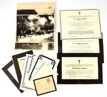 Régi és Modern Halotti értesítők és Temetési Szertartási Fotók - Documentos Antiguos