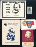 5 Db Szocialista Témájú Nyomtatvány - Documentos Antiguos