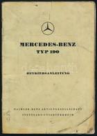 Mercedes-Benz TYP 190 Német Nyelvű Használati útmutató, Koszos, 52p - Documentos Antiguos