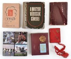 3 Db Minikönyv - A Magyar Városok Címerei; Törvény Az Ifjúságról; Magyarország + 3 Db Mini Zsebnotesz - Documentos Antiguos