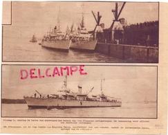 Orig Knipsel Tijdschrift Magazine - Franse Oorlogsschepen Op Bezoek - Antwerpen - 1932 - Documentos Antiguos
