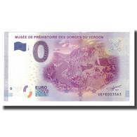 France, Billet Touristique - 0 Euro, 04/ Quinson - Musée De Préhistoire Des - Frankrijk