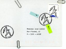 2730 Sclérose En Plaques Sur Lettre Avec Cachet 1er Jour De Vente (voir Scan & Descr) - Postmark Collection