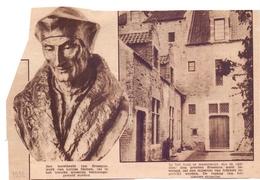 Orig Knipsel Tijdschrift Magazine - Huis Erasmus Te Anderlecht - Beeld Louisa Damen - 1932 - Documentos Antiguos