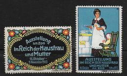 Deutsches Reich Austellung Hausfrau Und Mutter Vignet Werbemarke Cinderella Advertisement Label - Fantasy Labels