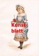 1840 A. Blaas Mädchen Kind Serviert Getränk Kunstblatt 1899 !! - Stampe