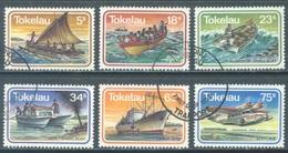 TOKELAU - USED/OBLIT. - 1983  - MARINE TRANSPORT - Yv 91-96 -  Lot 21657 - Tokelau