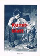 1847 Hermann Kaulbach Kinder Wer Hat Mehr Kunstblatt 1899 !! - Stampe