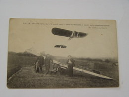 SAONE ET LOIRE-LA CLAYETTE-AVIATION DES 7,8,9 AVRIL 1912-CHUTE DE HANOUILLE LE LUNDI 8 AVRIL BRISANT SON APPAREIL - Autres Communes