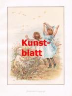 1850 Frances Brundage Schmetterlinge Kinder Kunstblatt 1898 !! - Stampe