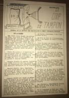 1936 PPF PARTI POPULAIRE FRANCAIS / JOURNAL LE COUP DE TAMPON  / SECTIONS DES WAGONS LITS    N10 - Historical Documents