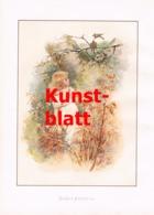 1852 Frances Brundage Mädchen Vögel Kunstblatt 1898 !! - Stampe