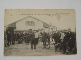 SAONE ET LOIRE -LA CLAYETTE-AVIATION DES 6,7,8, 9 AVRIL 1912-SORTIE D'UN APPAREIL DE LA GARE DE LA CLAYETTE - Autres Communes