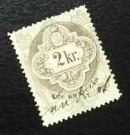 Austria C1867 Hungary Croatia MILITARY BORDER Revenue Stamp 2 KR B2 - Gebraucht