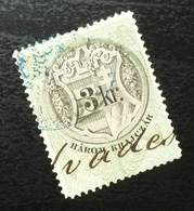 Austria C1867 Hungary Croatia MILITARY BORDER Revenue Stamp 3 KR B3 - Gebraucht