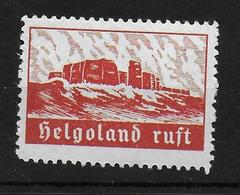 Deutsches Reich Helogoland Ruft Vignet Werbemarke Cinderella Advertisement Propaganda - Fantasy Labels