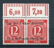 SBZ/Lokalausgaben Frankenberg - Michel 1 Pfr.**/MNH Sign. Richter - Soviet Zone