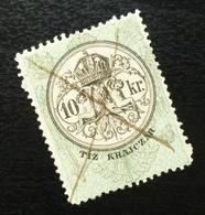 Austria C1867 Hungary Croatia MILITARY BORDER Revenue Stamp 10 KR B7 - Gebraucht