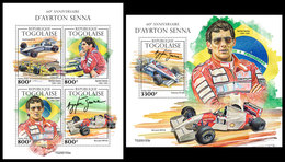 TOGO 2020 - Ayrton Senna, M/S + S/S. Official Issue. [TG200153] - Togo (1960-...)