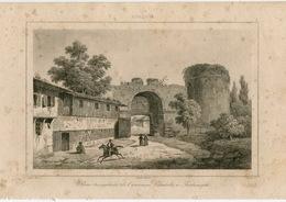 Triumphal Gate Adrianople Edirne Architecture Ottoman Turkish Empire Turkey Antique Engraving 1840 - Estampas & Grabados