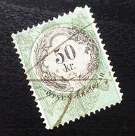 Austria C1867 Hungary Croatia MILITARY BORDER Revenue Stamp 50 KR B9 - Gebraucht