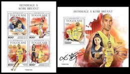TOGO 2020 - Kobe Bryant, Basketball. M/S + S/S. Official Issue. [TG200155] - Togo (1960-...)
