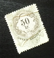 Austria C1867 Hungary Croatia MILITARY BORDER Revenue Stamp 50 KR B10 - Gebraucht