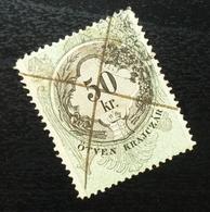 Austria C1867 Hungary Croatia MILITARY BORDER Revenue Stamp 50 KR B11 - Gebraucht