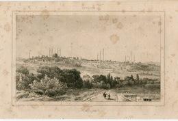 Adrianople Edirne Architecture Ottoman Turkish Empire Turkey Antique Engraving 1840 - Estampas & Grabados