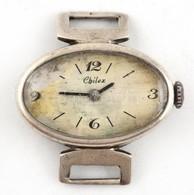 Ezüst(Ag) Női óra, Jelzett, Nem Jár, D: 2,8 Cm, Bruttó: 10,6 G - Sin Clasificación