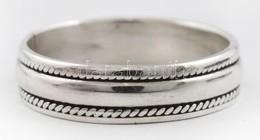 Ezüst(Ag) Fonatos Gyűrű, Jelzett, Méret: 61, Nettó: 4,1 G - Sin Clasificación