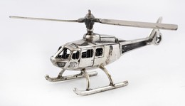 Ezüst(Ag) Miniatűr Helikopter, Jelzett, 8×3 Cm, Nettó: 18,3 G - Sin Clasificación