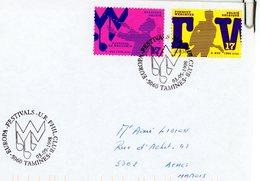 2757/58 - Festivals - Sur Lettre Avec Cachet 2ème Jour Prévente (voir Scan & Descr) - Postmark Collection