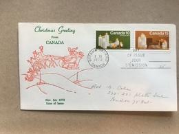 CANADA 1972 FDC Christmas - 1952-.... Règne D'Elizabeth II