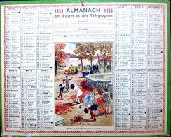 CALENDRIER 1938 DE LA POSTE PARTIE DE SAUTE MOUTON COMPLET DES FEUILLETS  BEL ETAT - Calendars