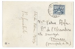 Poste Vaticane 25c  1930  Oblitération Du Vatican, Sur CPA Pour Monaco Villa Danichgah - Vatican