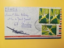 1969 BUSTA INTESTATA VENEZUELA BOLLO AIR MAIL GIOCHI OLIMPICI OLYMPIC GAMES ANNULLO OBLITERE' CARACAS - Venezuela