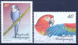 MK 2010-540-1 BIRDS, MACEDONIA, 1 X 2v, MNH - Macedonië